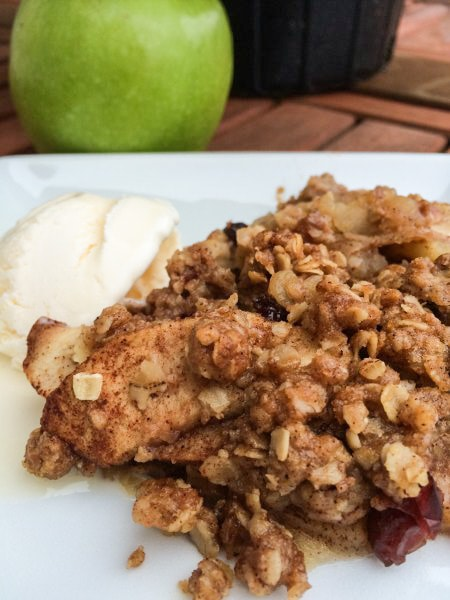 Easy Apple Crisp with Craisins