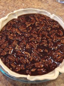 Raw pecan pie filling