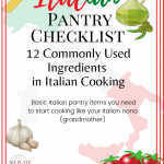 12 Commonly Used Ingredients in Italian Cooking