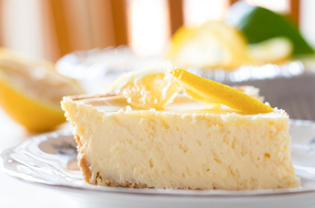 This easy creamy lemon cheesecake only takes a few min to prep and has a very lemony flavor with creamy consistency that your guests will devour!