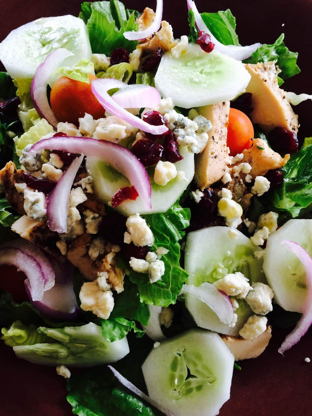 Grilled Chicken Blue Cheese Cranberry Salad