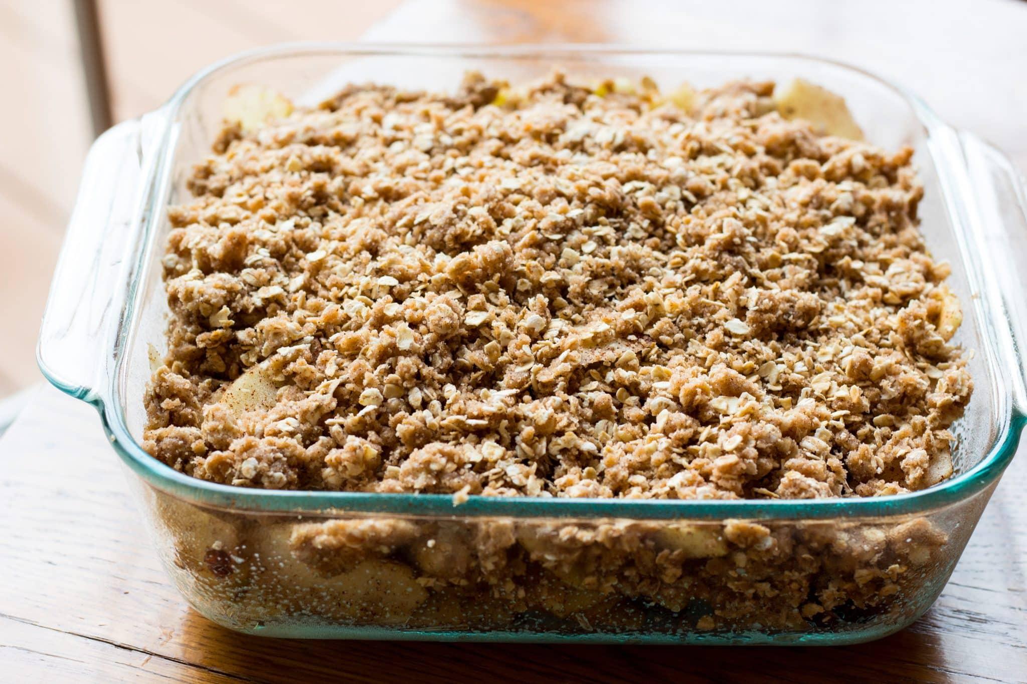 Unbaked Yummy Easy Apple Craisin Crisp