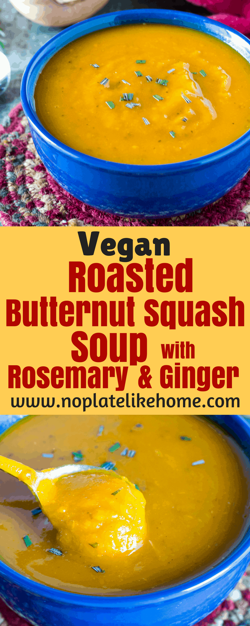 Easy Roasted Butternut Squash Soup with Rosemary and ...