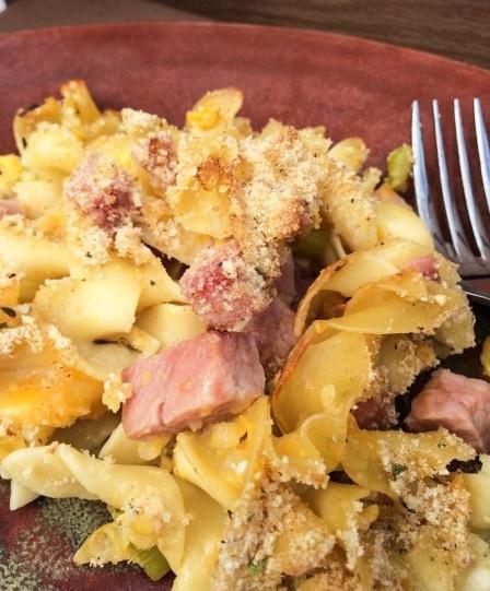 Easy Ham Noodle Casserole