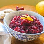 Lemon Ginger Cranberry Relish Recipe