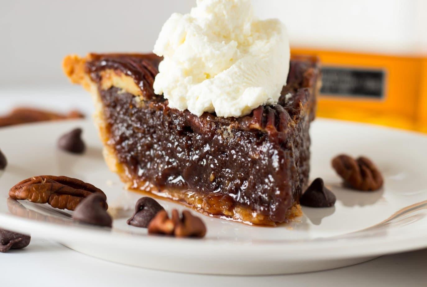 The Best Bourbon Chocolate Pecan Pie + VIDEO - No Plate Like Home
