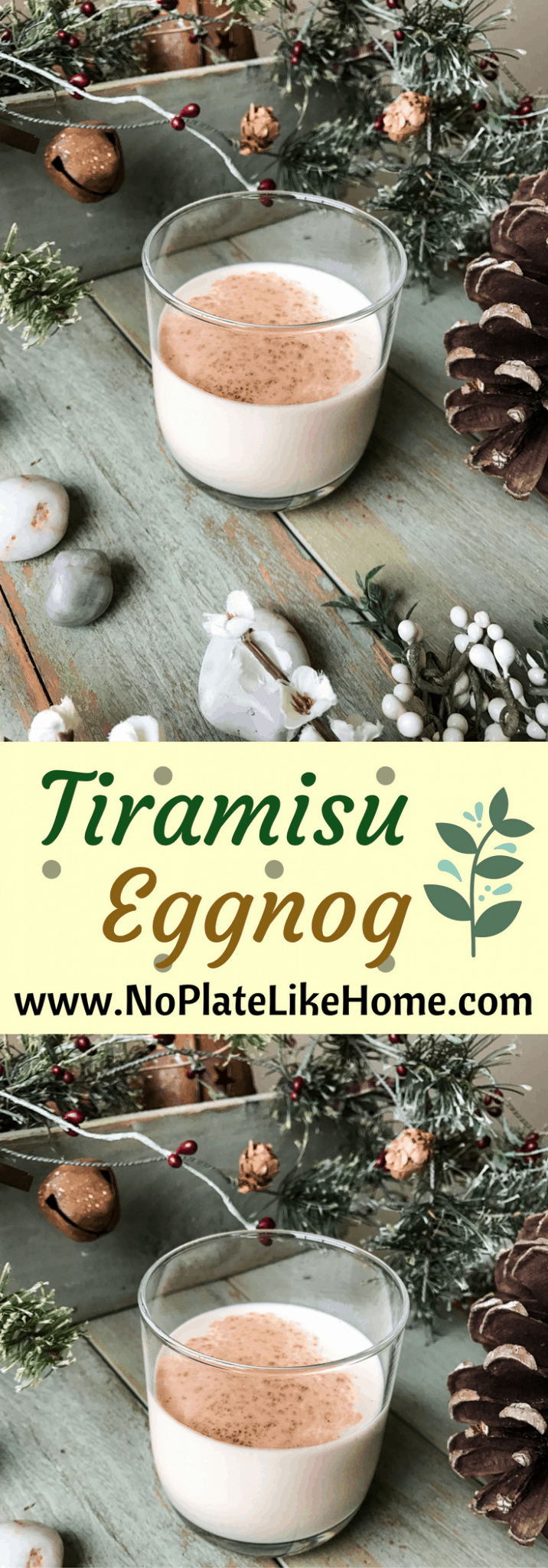 Tiramisu Eggnog Cocktail