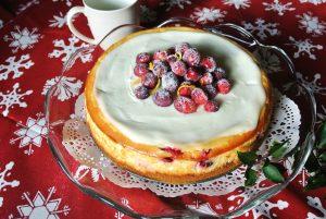 Lemon Cranberry Cheesecake