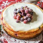 Cranberry Lemon Cheesecake