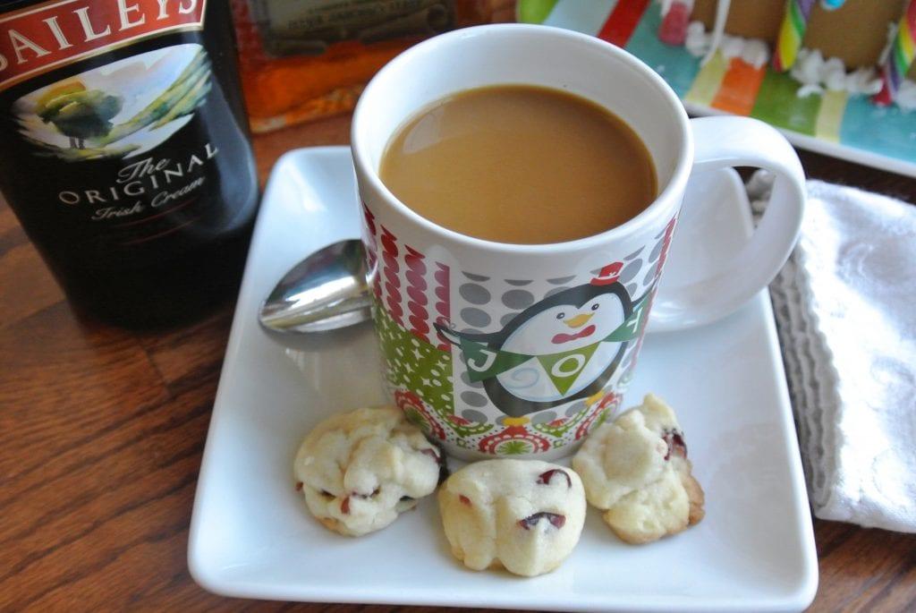 Coffee flavored with Bailey's Irish Cream, coffee liquor, and amaretto