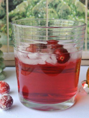 Cranberry Melon Vodka Tonic Cocktail