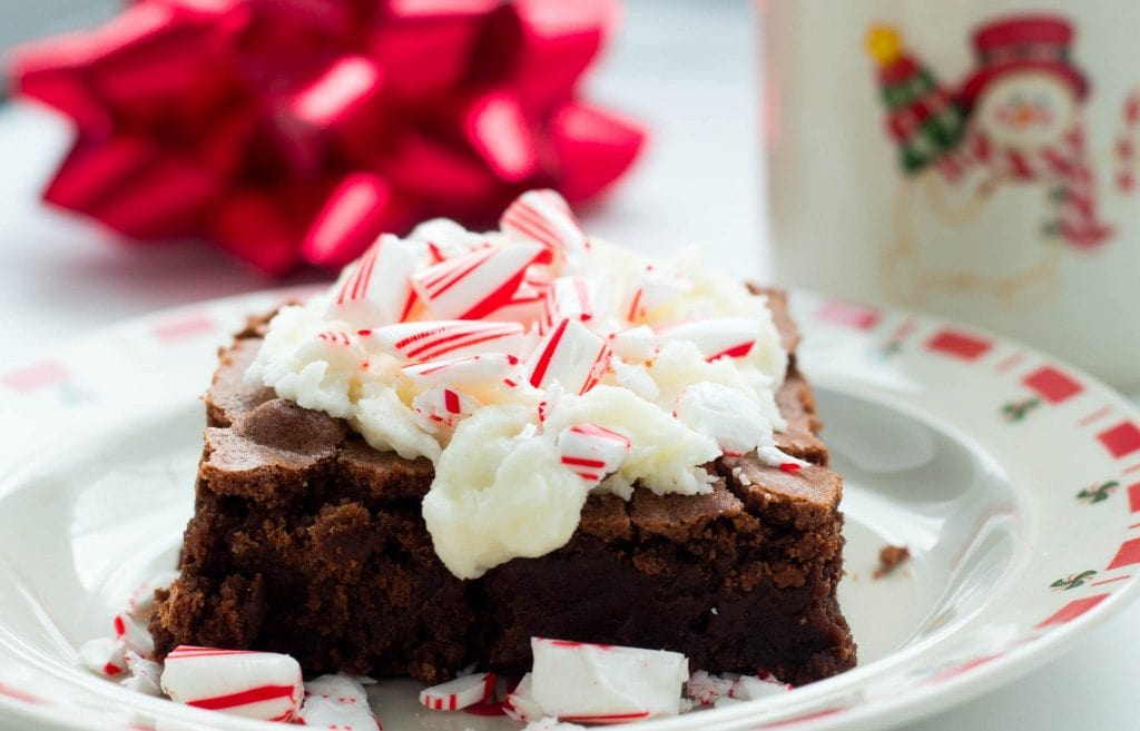 Brownies with Peppermint Frosting