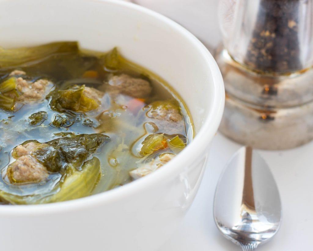 One Pot Homemade Italian Wedding Soup