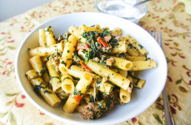 Italian Sausage Spinach Pasta