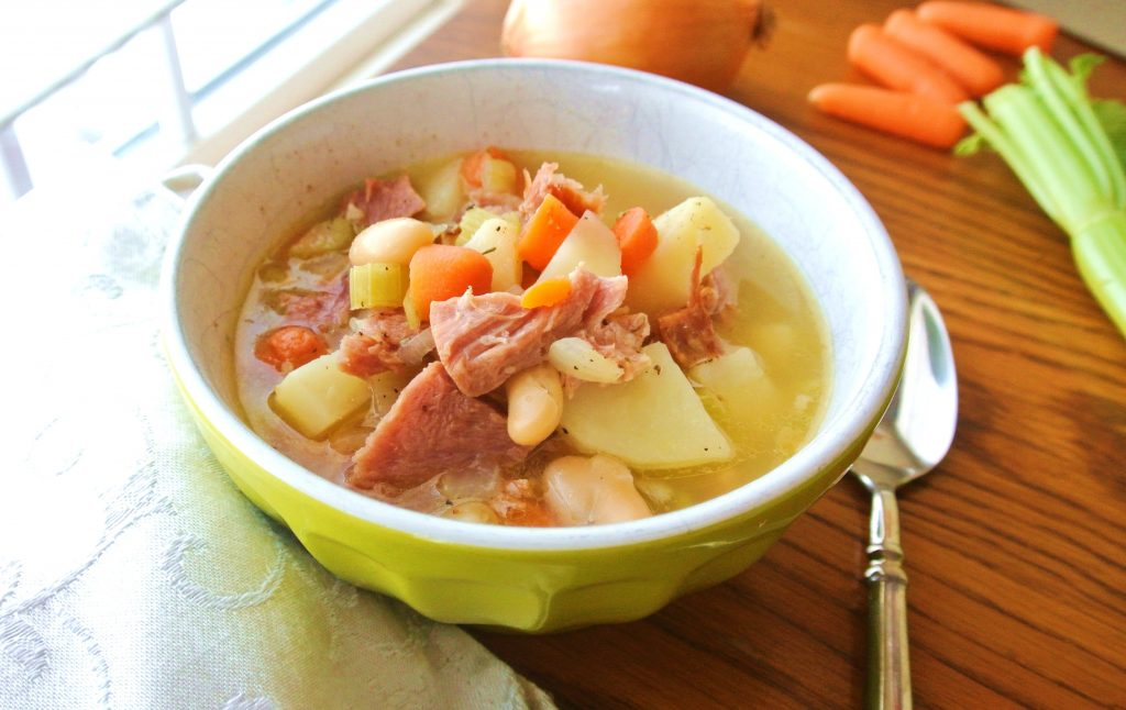 Easy and Tasty One Pot Ham, Potato and Bean Soup