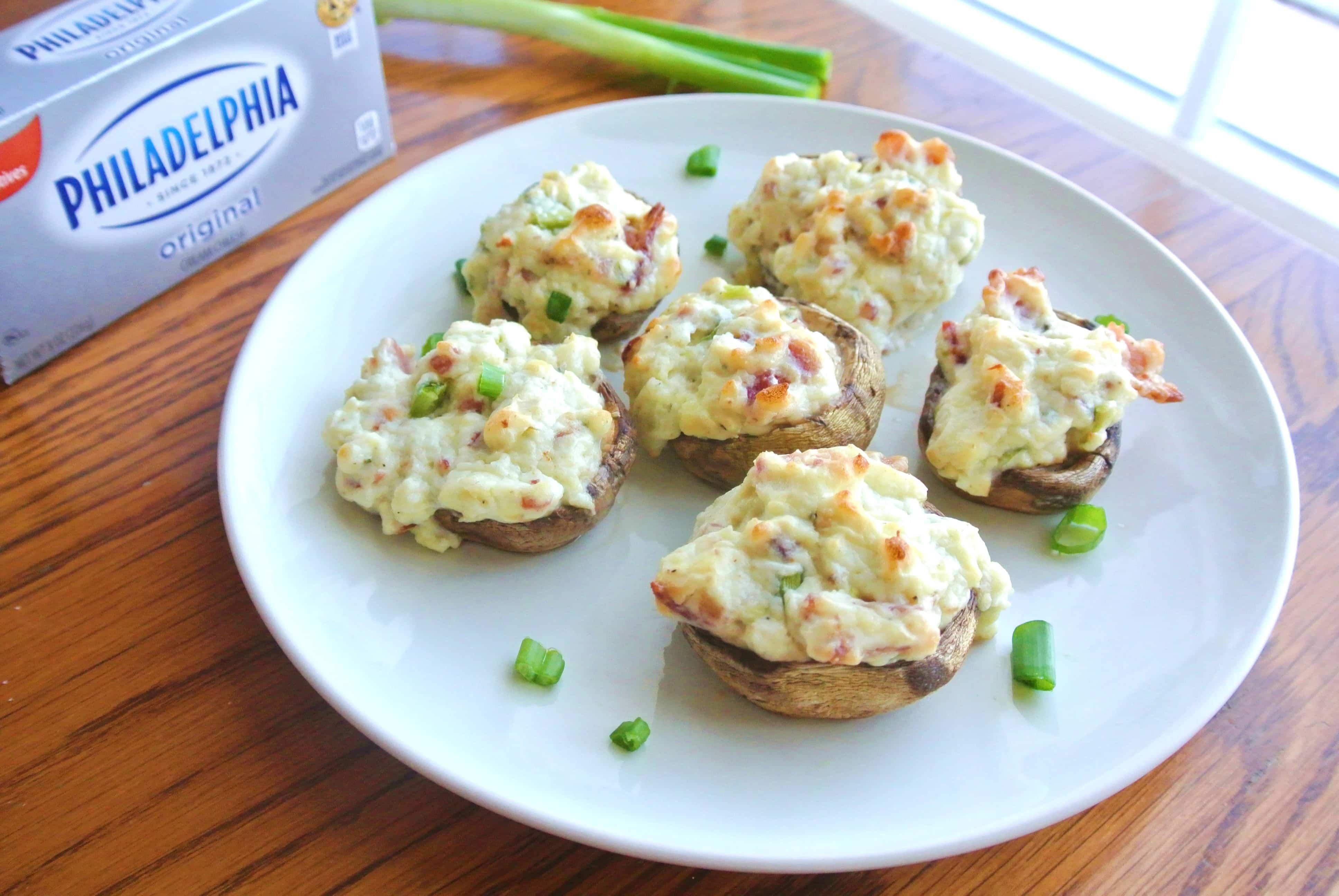 Easy Bacon Blue Cheese Stuffed Mushrooms