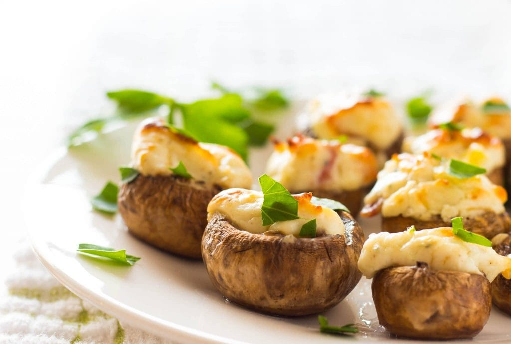 Yummy Easy Bacon and Blue Cheese Stuffed Mushrooms are made