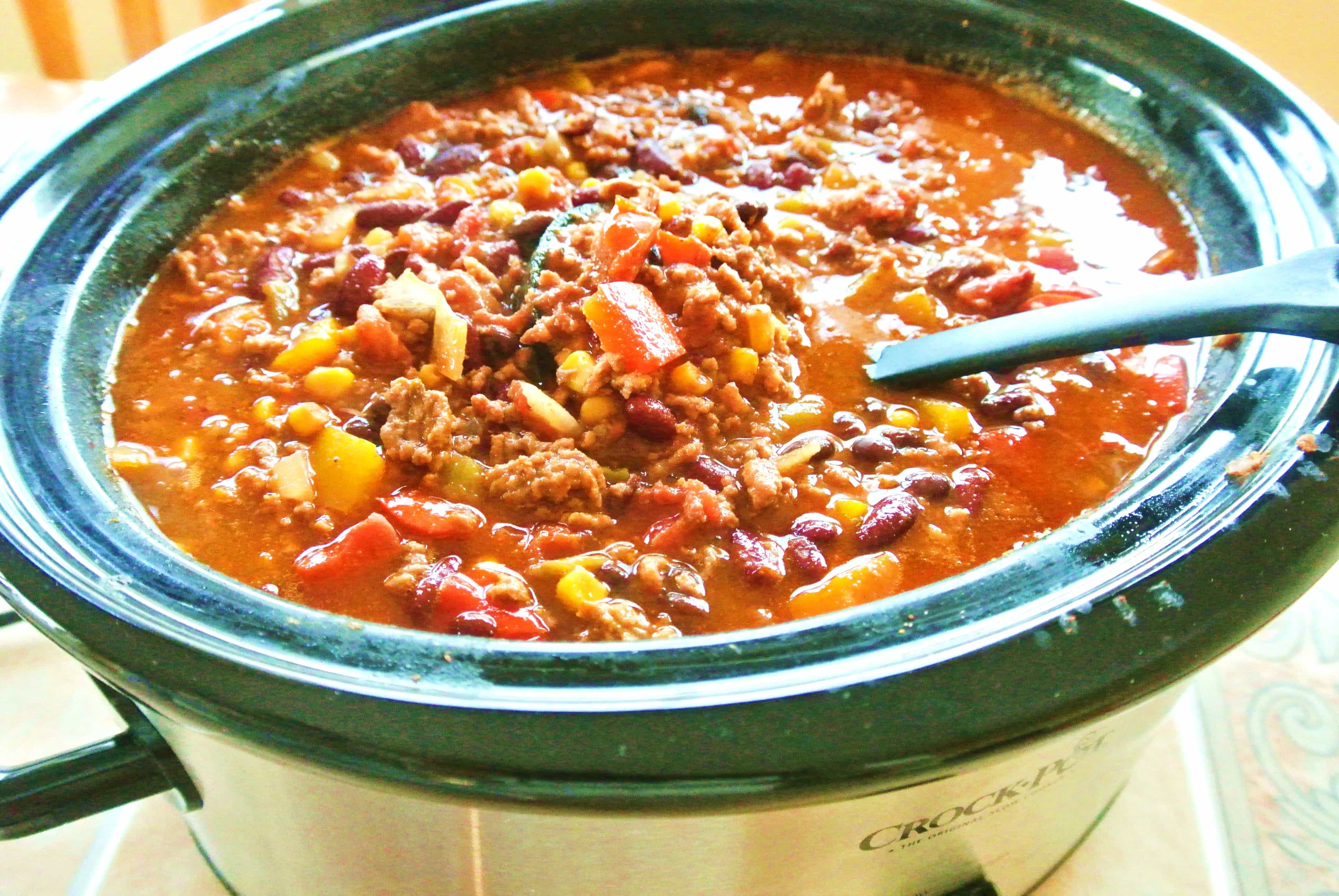 5 Hour Homemade Loaded Slow Cooker Chili