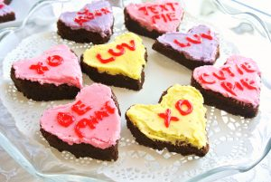 Conversation Heart Brownies