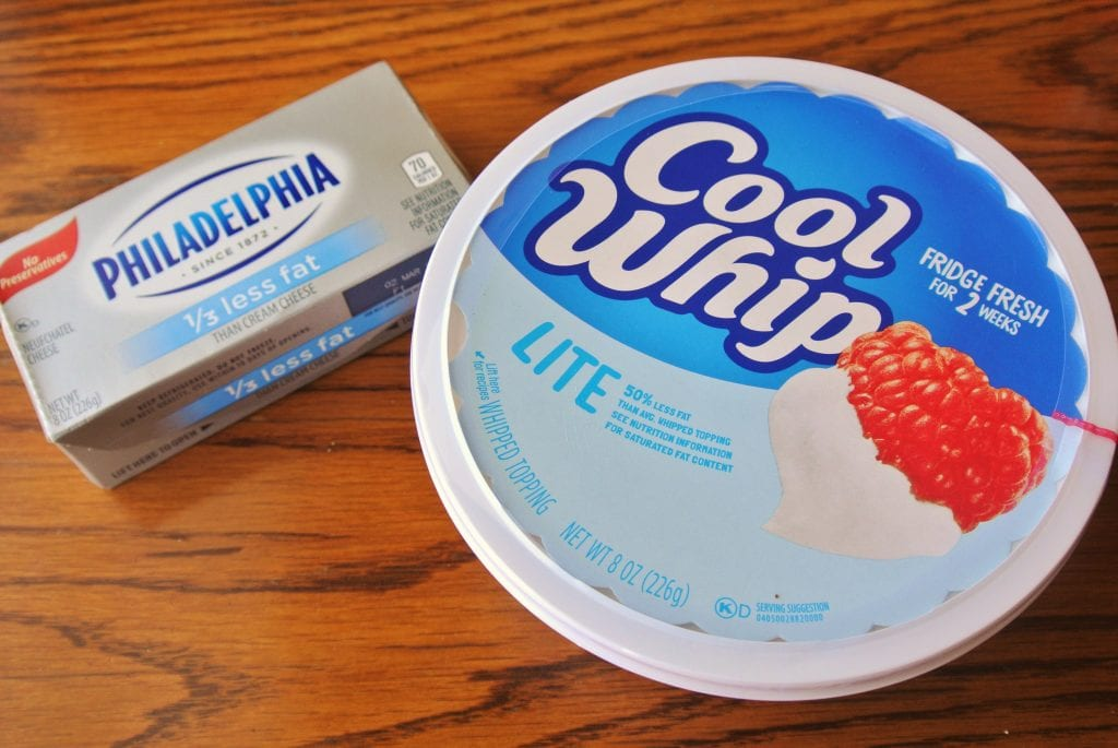 Neufchatel Cream Cheese and Cool Whip Lite