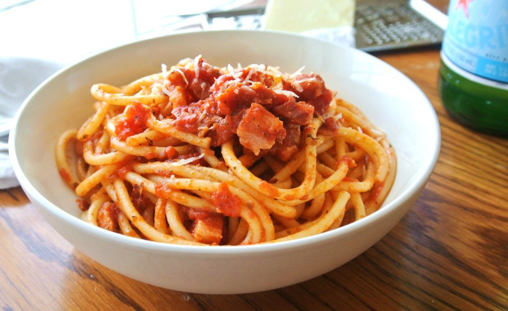 "Bucatini all""Amatriciana"