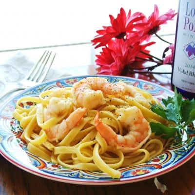 Easy Shrimp Scampi Fettuccine