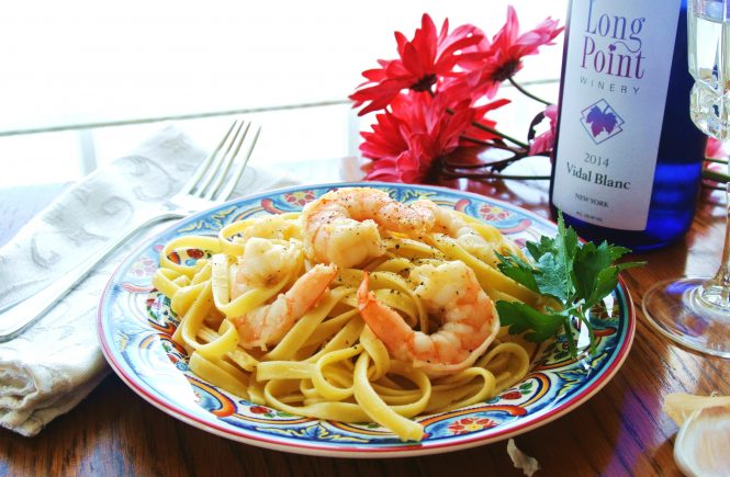 Shrimp Scampi Fettuccini