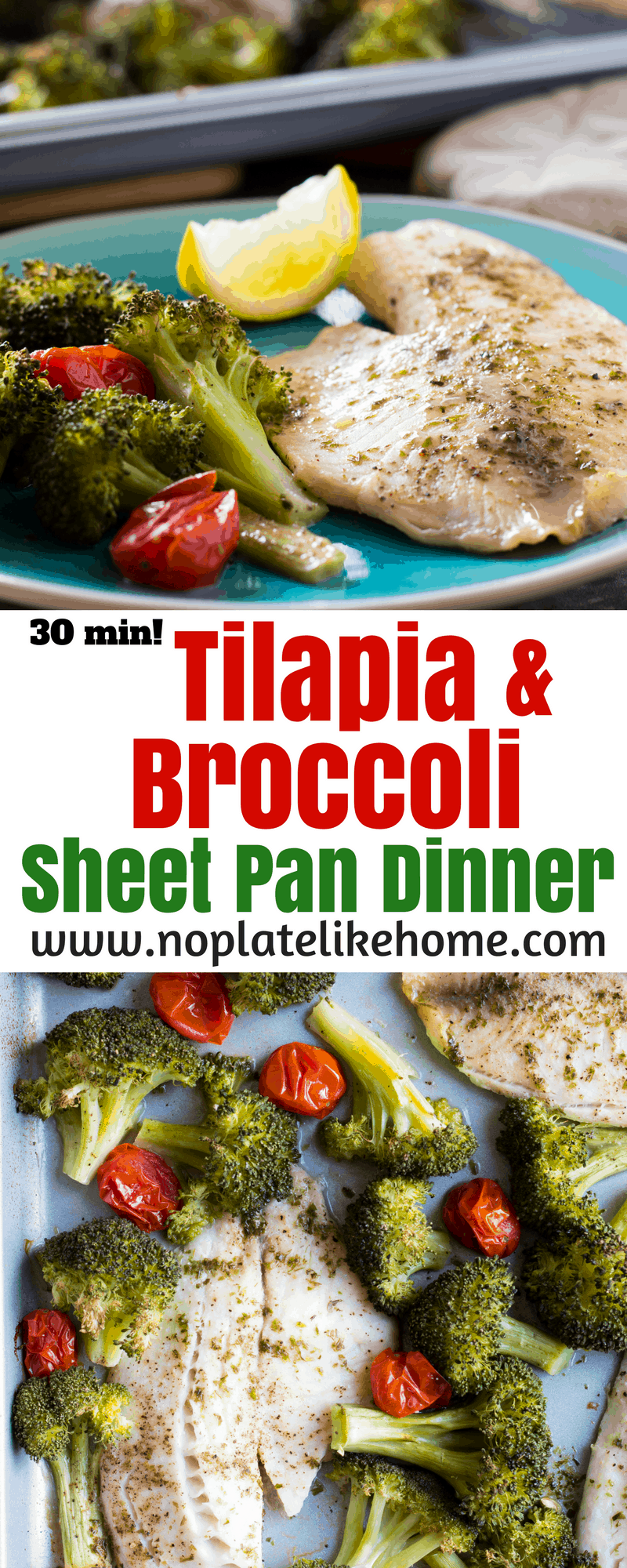 Roasted Tilapia & Broccoli