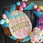 Dollar Store Easter Wreath