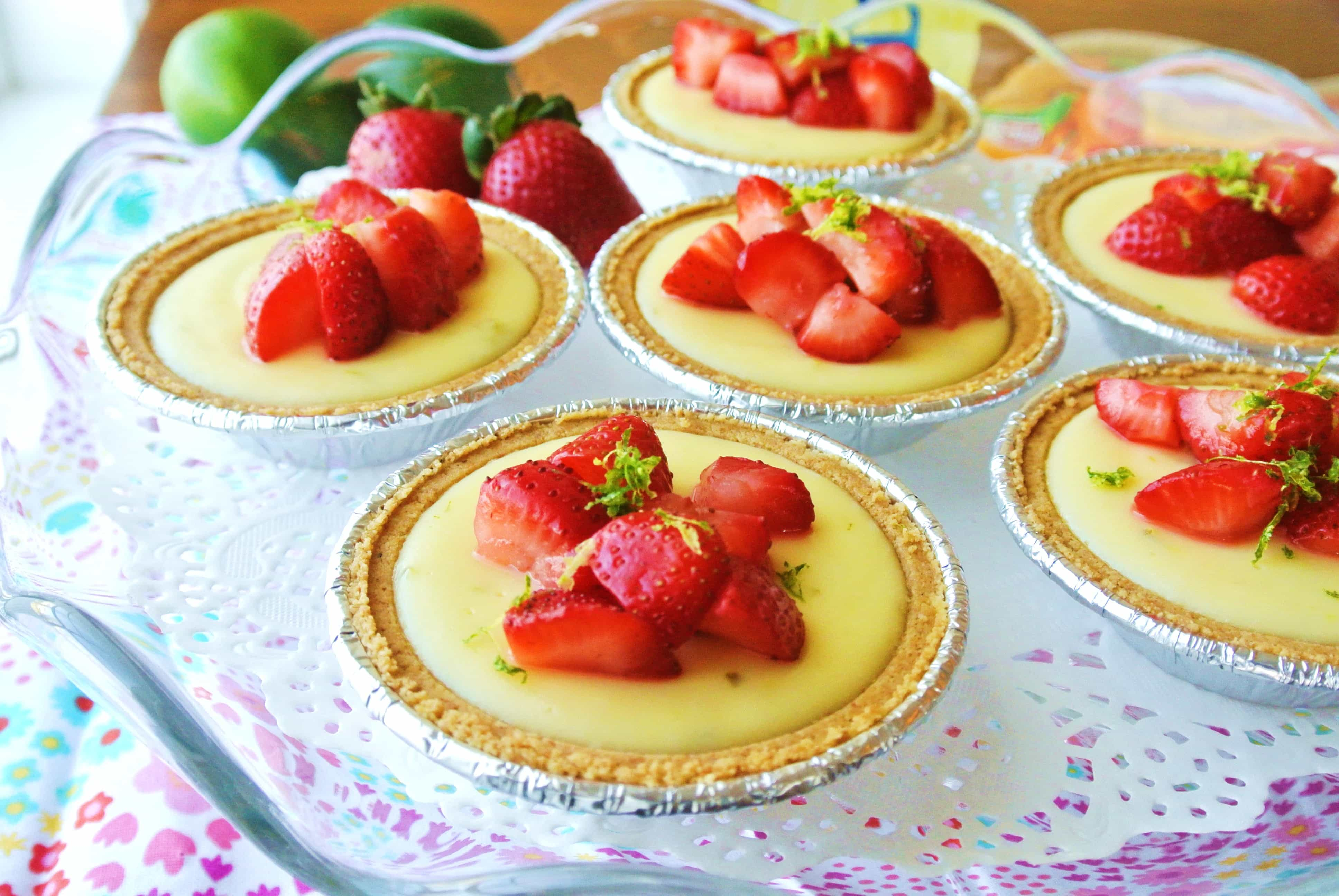Mini Strawberry Key Lime Pies with Limoncello