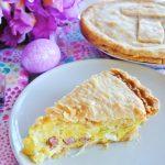 Italian Easter Pie with Prosciutto and Mozzarella cheese
