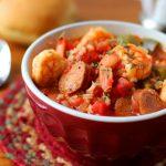 One Pot Jambalaya with Shrimp and Andouille Sausage