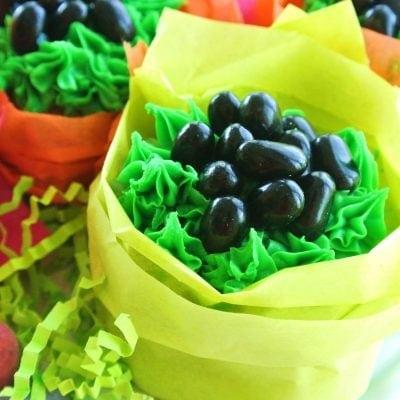 Easter Bunny Poop Cupcakes