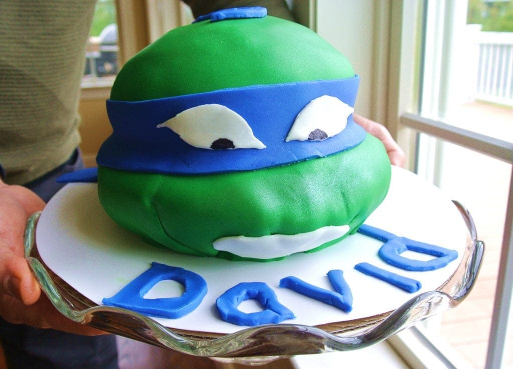 How to Make a Ninja Turtle Fondant Cake No Plate Like Home