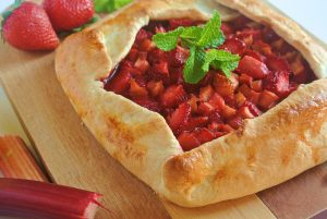 Rustic Strawberry Lemon Rhubarb Galette