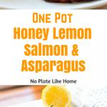 One Pot Honey Lemon Salmon & Asparagus