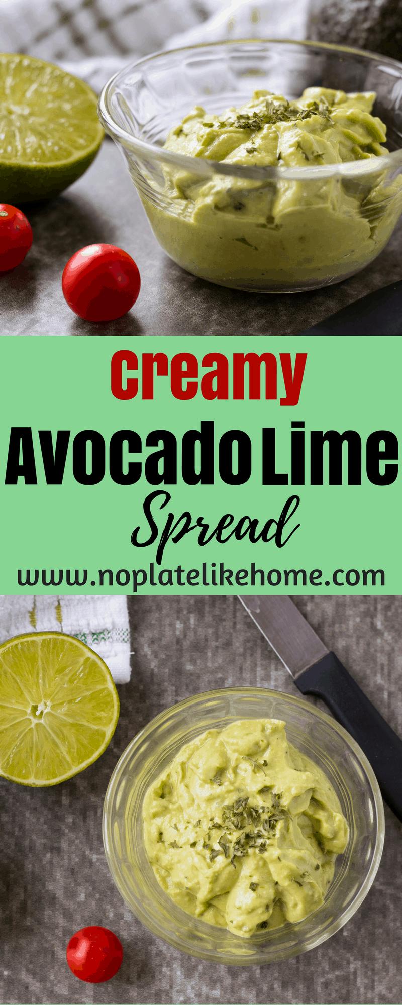 Easy Creamy Avocado Lime Spread in 3 Min!