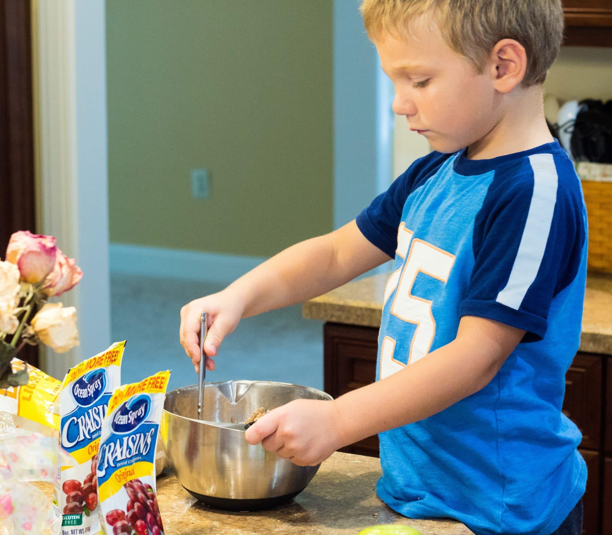 The making of Yummy Easy Apple Craisin Crisp