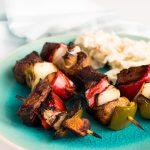 Grilled Asian Hoisin Beef Kabob Bites