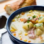 One Pot Ham, Potato and Corn Chowder
