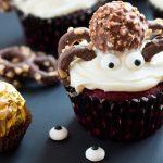 Ferrero Rocher Red Velvet Spider Cupcakes