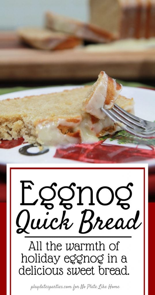 Eggnog Quick Bread with Rum Infused Glaze