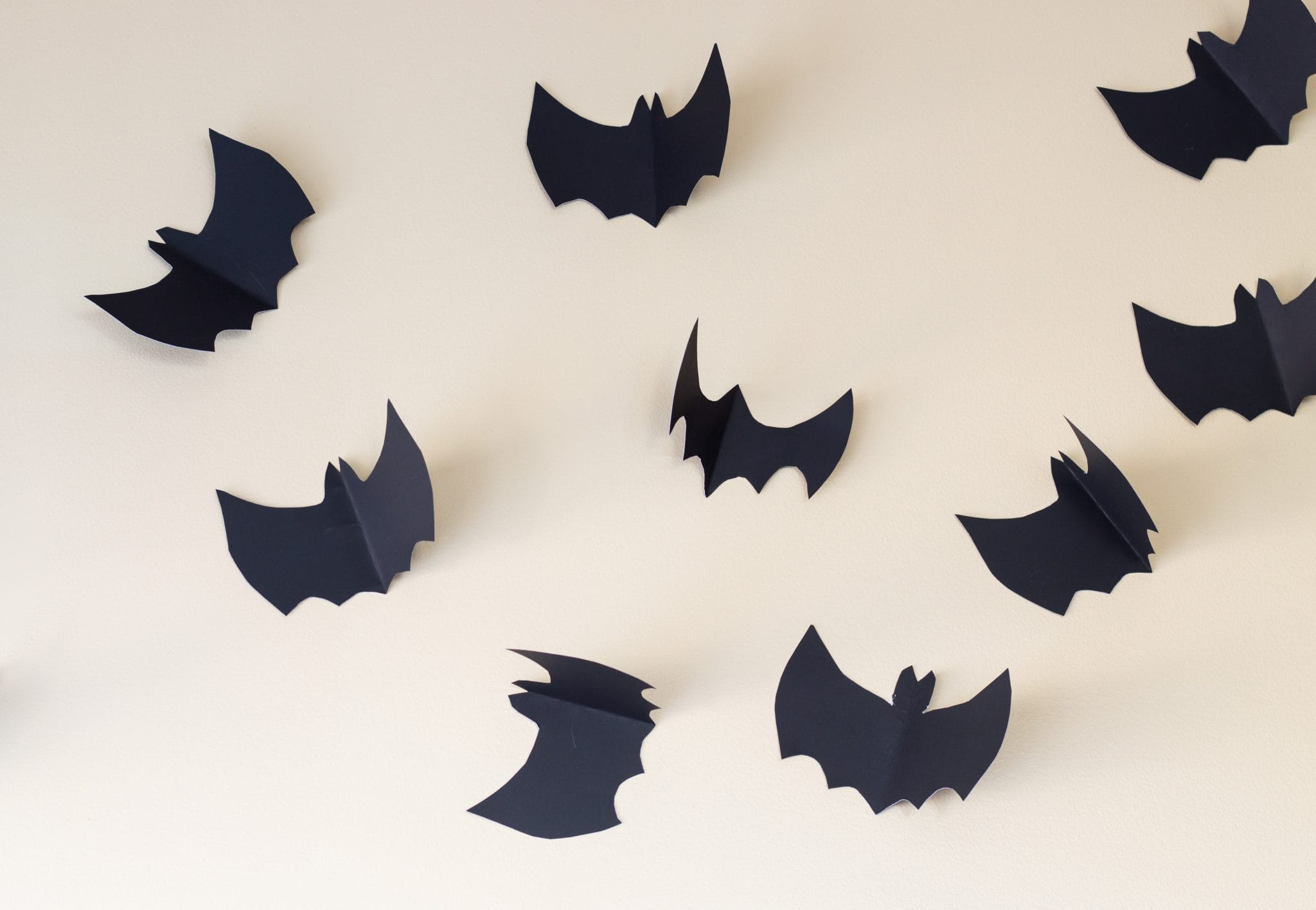 Poster Board Bats- Cheap and Easy Halloween Decorating Ideas
