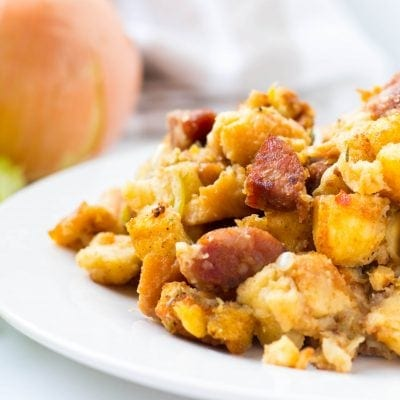 Andouille Sausage and Potato Bread Stuffing