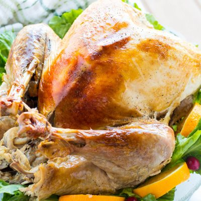Roasted Turkey with Citrus Apple Cider Vinegar Brine