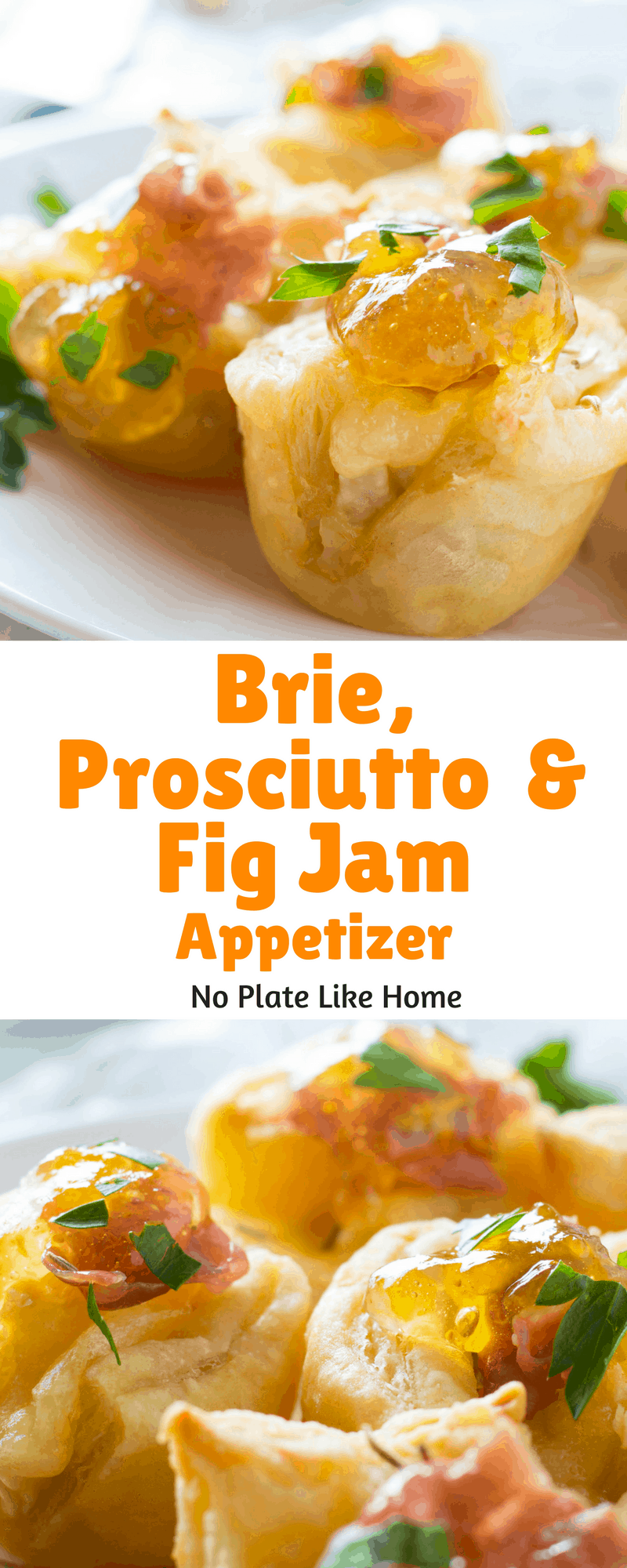 Brie, Prosciutto and Fig Jam Appetizer is an easy-to-make hot hors d'oeuvres with little prep and no cutting up veggies or mixing. This is a tasty puff pastry appetizer!