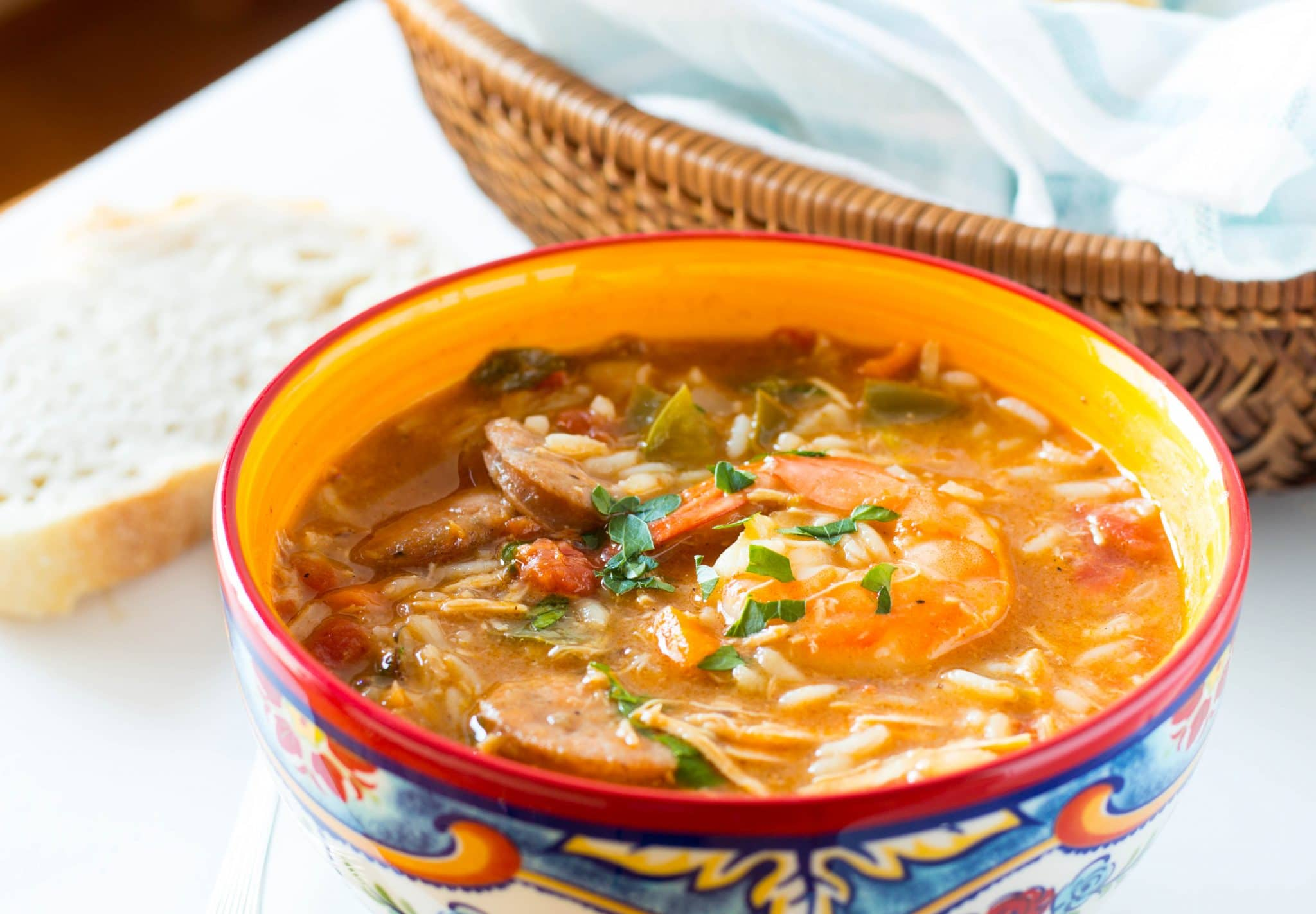 Creole Chicken, Sausage and Shrimp Gumbo