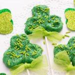 St. Patrick's Day Shamrock Pretzel Sticks