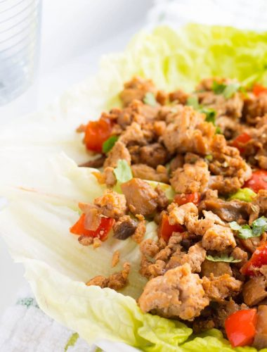 Asian Ground Turkey Lettuce Wraps