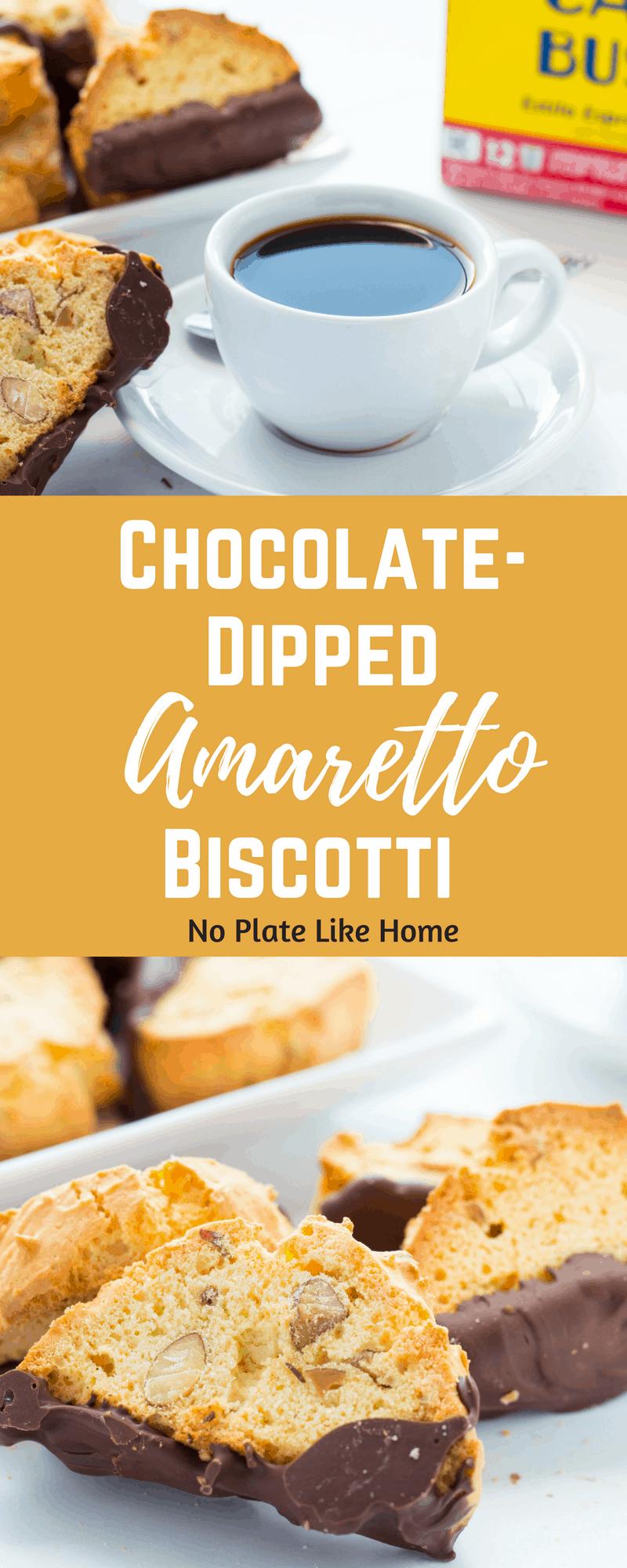 Chocolate-Dipped Amaretto Biscotti
